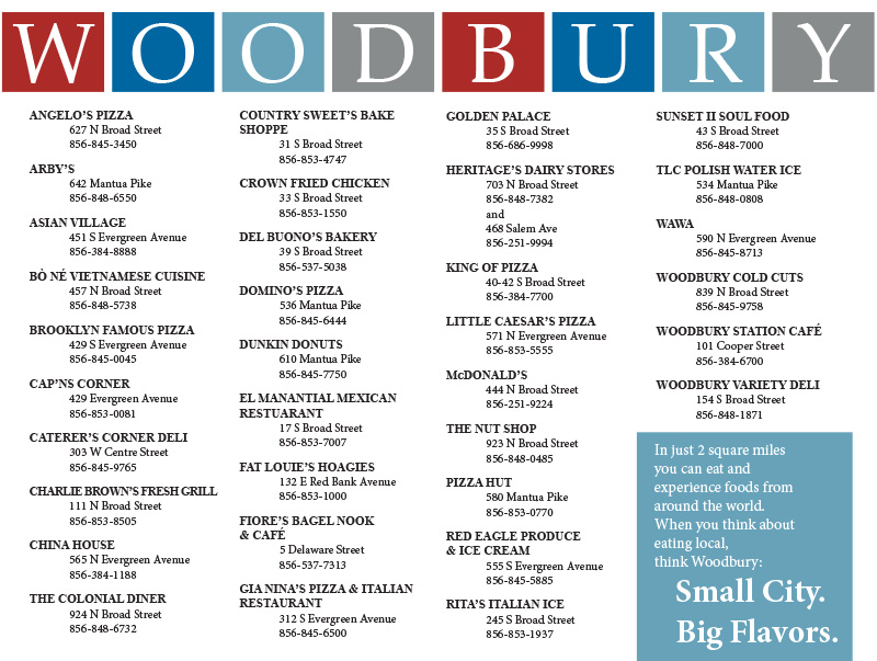 Woodbury Restaurant Guide